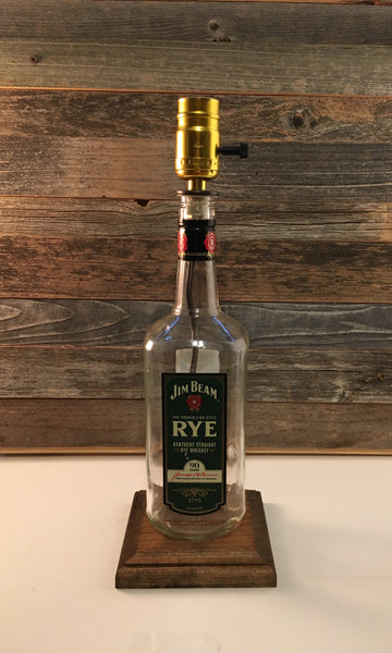 Jim Beam Rye Whiskey Lamp - BottleCraft By Tom
