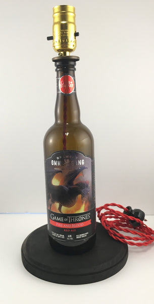 Ommegang Fire and Blood Beer Lamp - BottleCraft By Tom