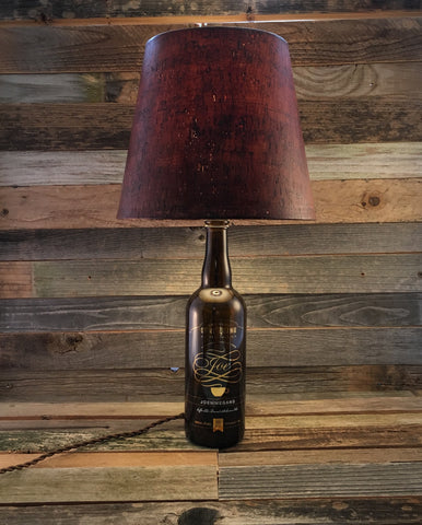 Upcycled Ommegang Bottle Lamp