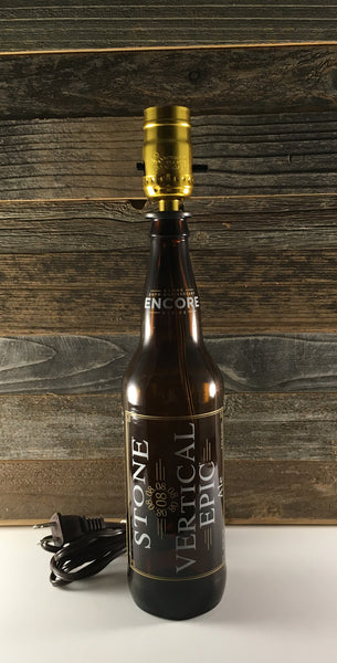 Stone Vertical Epic Beer Lamp - BottleCraft By Tom
