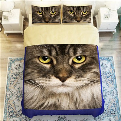 Pretty Cat Eyes Duvet Bedding Set - Just Love Cats