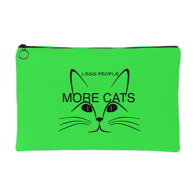Less People More Cats-Accessory Pouch - Just Love Cats