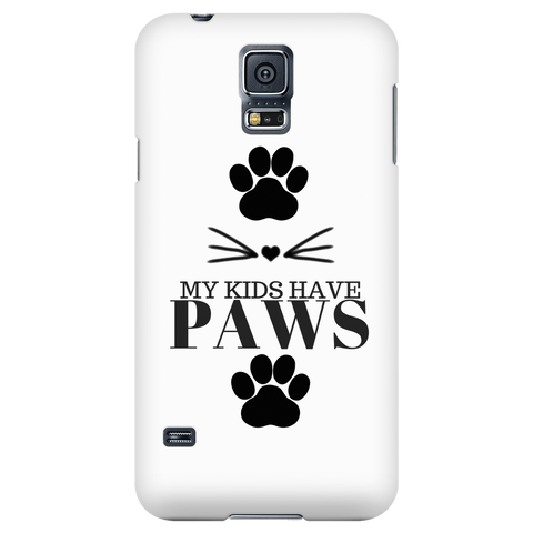 My Kids Have Paws-White Phone Case