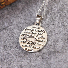 A Purrrfect World Cat Necklace - Just Love Cats
