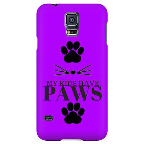 My Kids Have Paws-Purple Phone Case