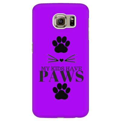 My Kids Have Paws-Purple Phone Case - Just Love Cats