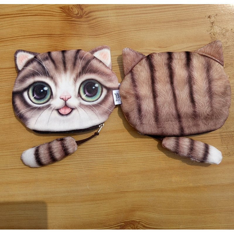 Kitty Cat Coin Purse & Makeup Bag - Just Love Cats