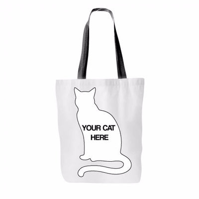 Custom and Personalized Cat Tote Bag