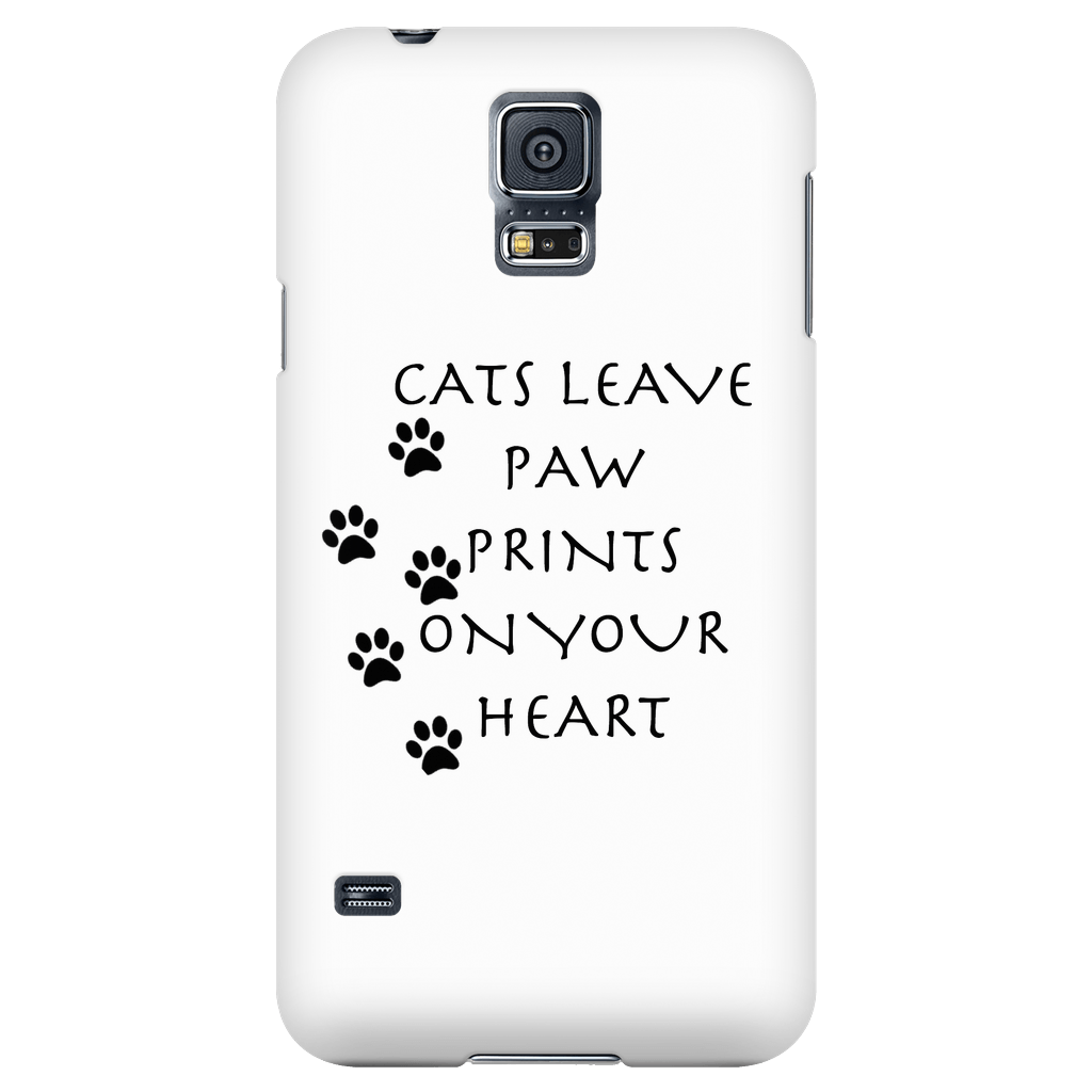 Cats Leave Paw Prints On Your Heart-Phone Case