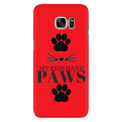 My Kids Have Paws-Red Phone Case