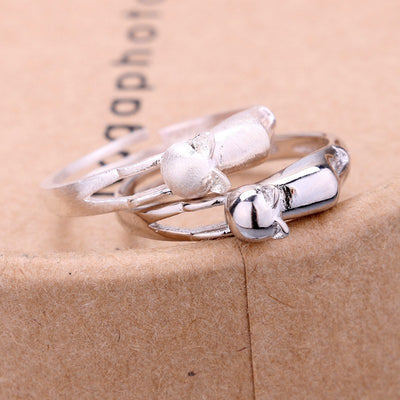 Silver Kitty Cat Ring - Just Love Cats