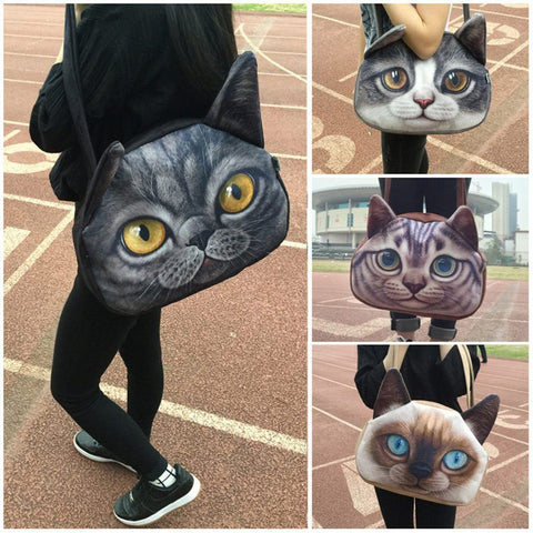 Over The Shoulder Anime Cat Purse & Messenger Bag