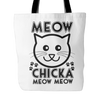 Meow Chicka Meow Meow Tote Bag - Just Love Cats