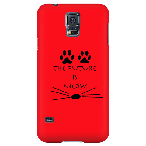 The Future Is Meow- Red Phone Case