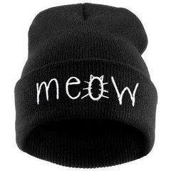 Knitted Wool Meow Hip Hop Kitty Cat Hat & Beanie - Just Love Cats
