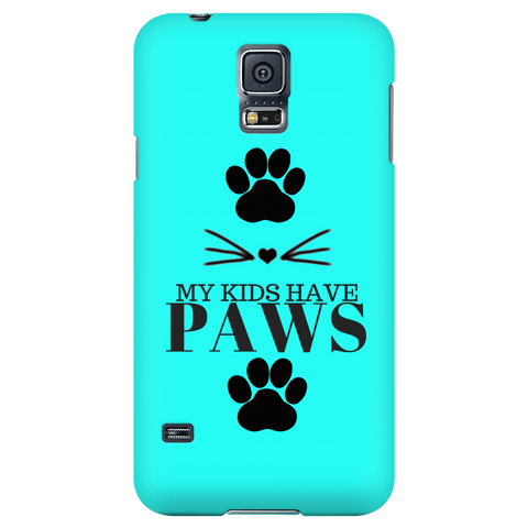 My Kids Have Paws-Teal Phone Case