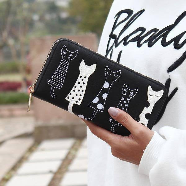 Just 5 Cats Clutch & Wallet - Just Love Cats
