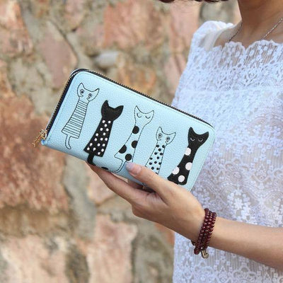 5 Little Cats Clutch & Wallet - Just Love Cats