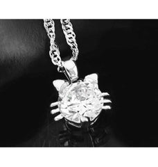 Austria Crystal Cat Pendant Necklace