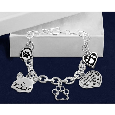 Five Times The Charm Cat Charm Bracelet
