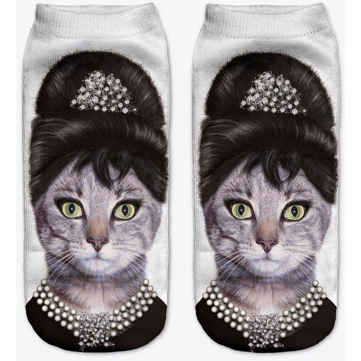 Cute Character Cat Socks