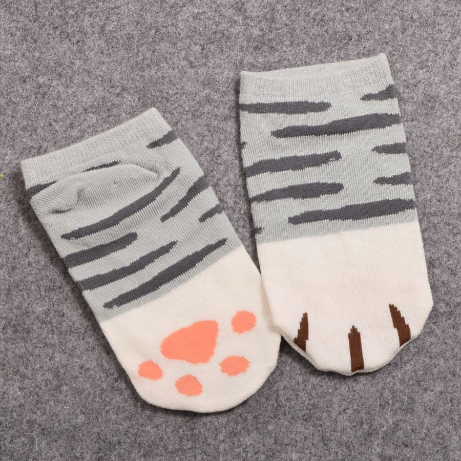 Cute Cat Paw Ankle Socks - Just Love Cats