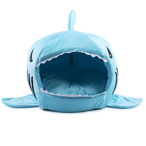 Shark Attack Cushioned Cat Bed