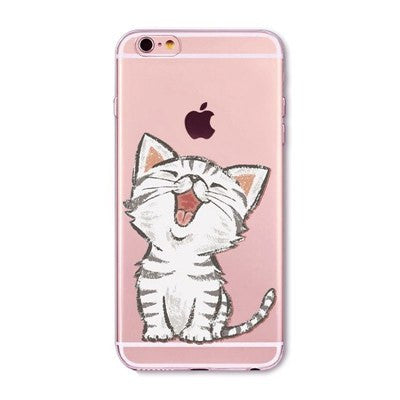 Singing Cat Soft Silicon Transparent Phone Cases For iPhones