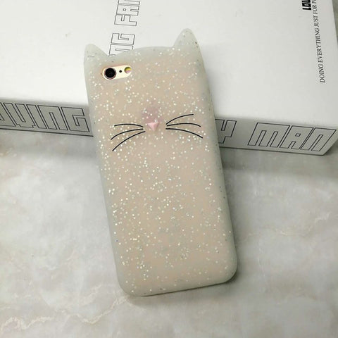 Cat Ears & Whiskers Silicon Phone Cases For iPhones