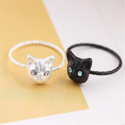 Cute Cat Head Rings - Just Love Cats