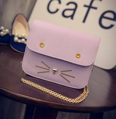 Candy Colored Kitty Cat Chain Handbag - Just Love Cats