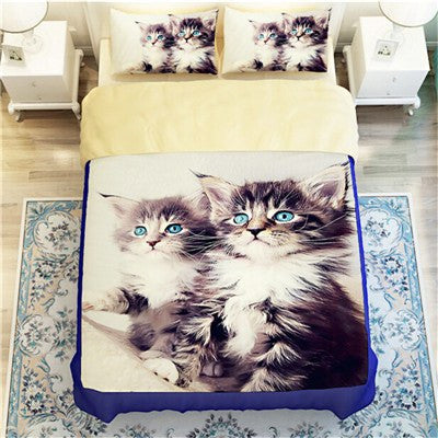 Blue Eyed Kittens Duvet Bedding Set - Just Love Cats