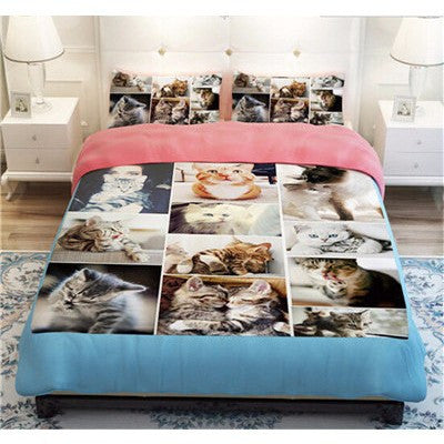 Cats In A Picture Frame Duvet Bedding Set - Just Love Cats