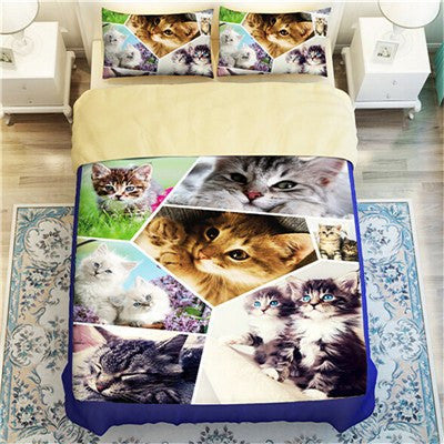 Patchwork Cat Duvet Bedding Set