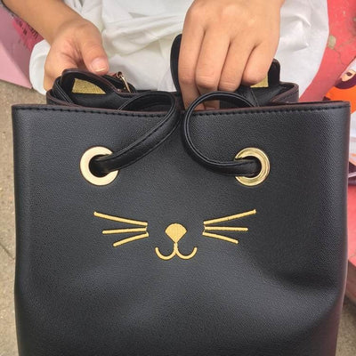Cute Kitty Cat Tote Handbag - Just Love Cats