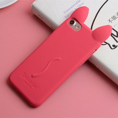 Cat Ear & Tail Silicon Phone Cases For iPhones - Just Love Cats