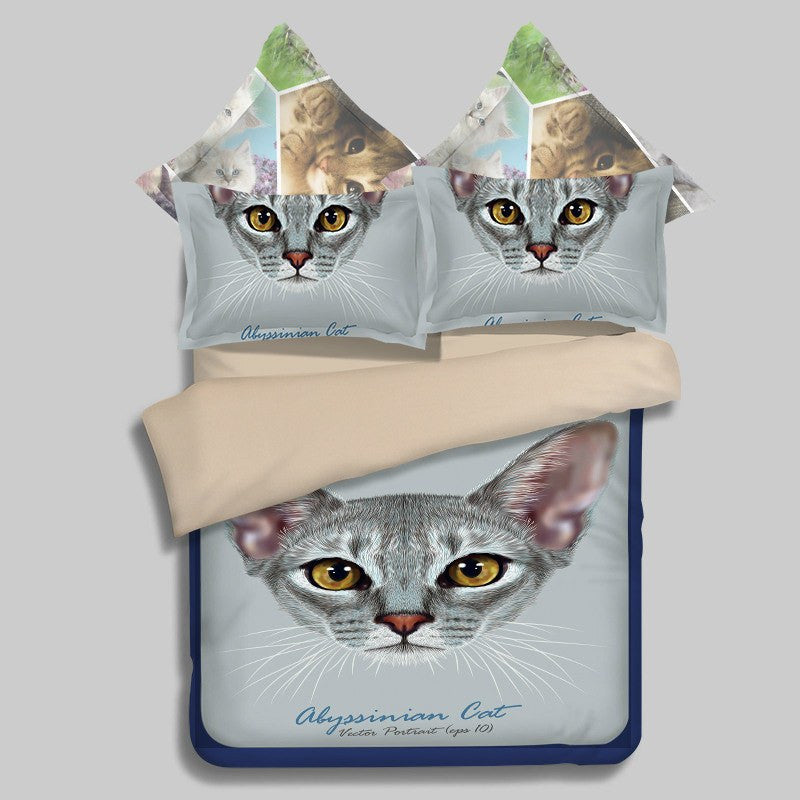 The Abyssinian Cat Duvet Bedding Set - Just Love Cats
