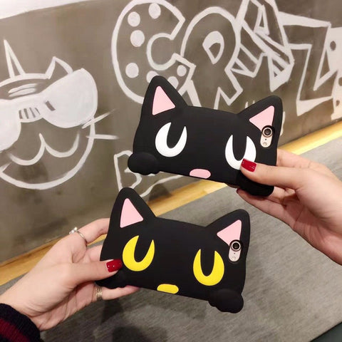 Cat Eyes Silicone Phone Cases For iPhone