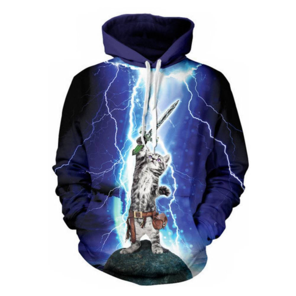 Sword Slaying Cat 3D Hoodies - Just Love Cats