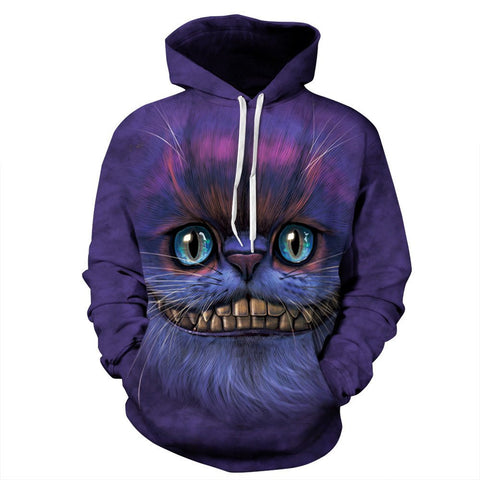 Crazy Cat 3D Hoodies