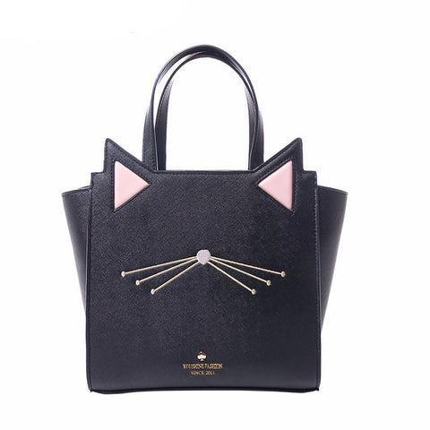 Hip Kitty Cat Tote Handbag