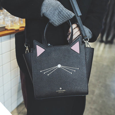 Hip Kitty Cat Tote Handbag - Just Love Cats