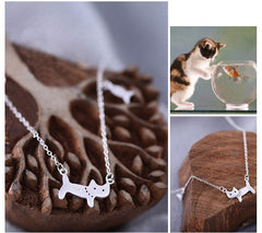 The Cat And Little Fish Necklace