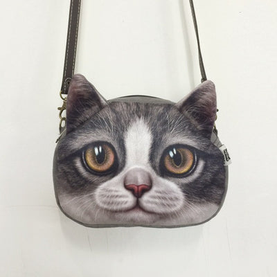 Cross Body Cat Leather Strap Purse - Just Love Cats