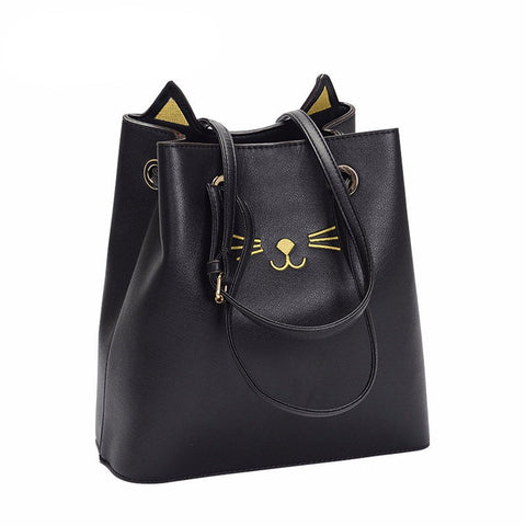 Cute Kitty Cat Tote Handbag