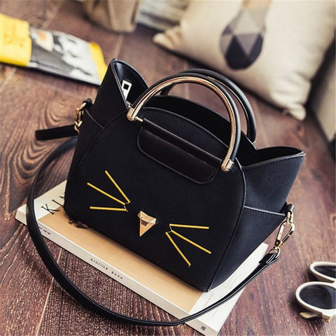 Golden Kitty Cat Handbag