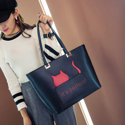 It's Perfect Cat Tote Handbag - Just Love Cats