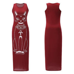 The Sleeveless Cat Maxi Dress