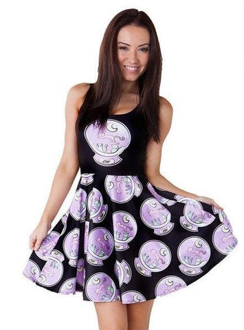 Crystal Ball Cat Dress