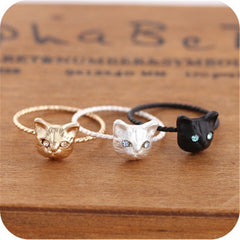 Cute Cat Head Rings